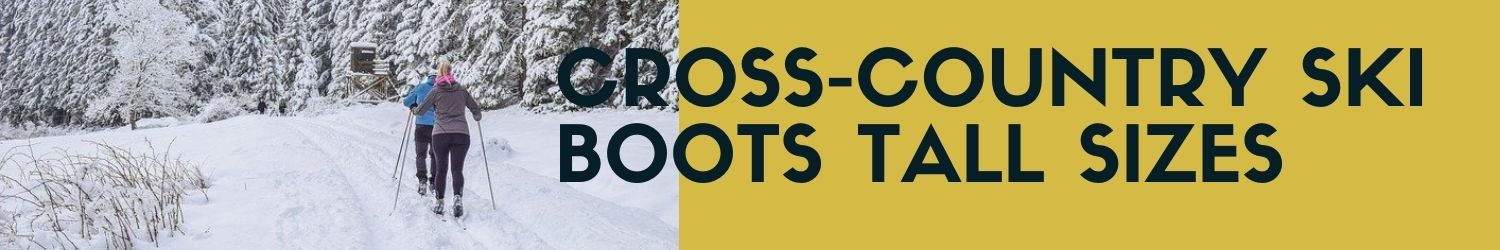 Tall cross-country ski boots