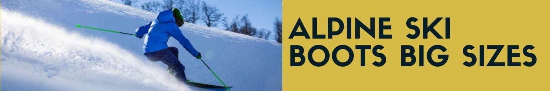 Alpine ski boots big size