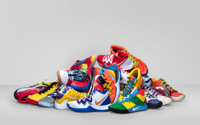 What are the shoe sizes of the NBA players?