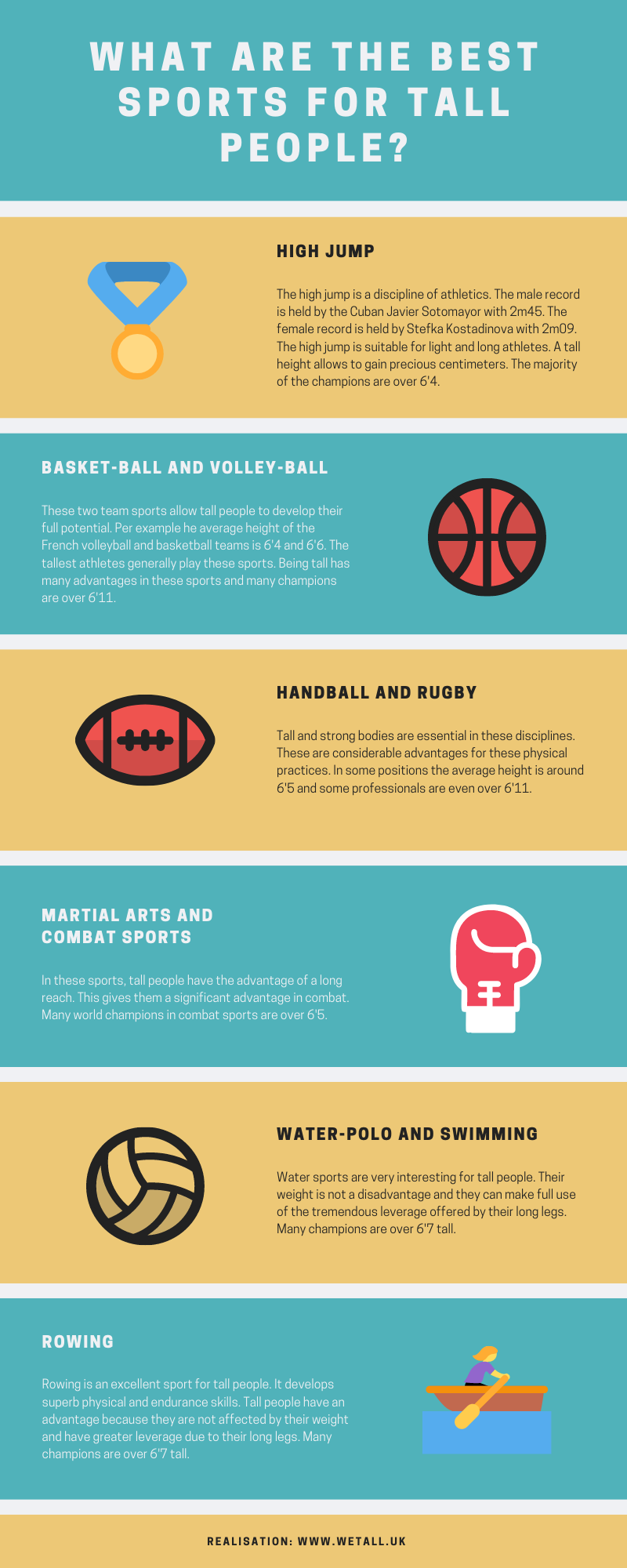 The best sports for tall people