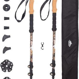 Cascade Mountain Tech Trekking Poles size up to 54 inches