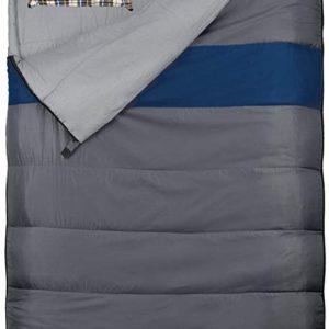 EXPLORER 4624Duo Double Sleeping Bag Grey/Blue big size 220x 150cm