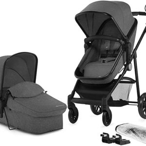 Kinderkraft Pram 2 in 1 Set Juli, Travel System, Baby Pushchair height 106cm