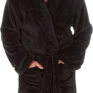 Mens Plus Size Dressing Gown with Shawl Big and Tall up to 5XL