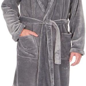 Pierre Roche Big & Tall Men's Fleece Hooded Robe up to 5XL